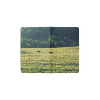 Deers Grazing Pocket Moleskine Notebook