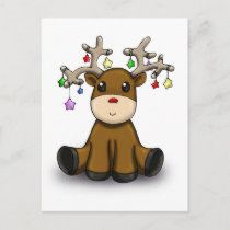 Deers Holiday Postcard