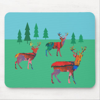 Deers in the Forest Mouse Pad