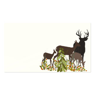 Deers in Wood. Christmas Double-Sided Standard Business Cards (Pack Of 100)
