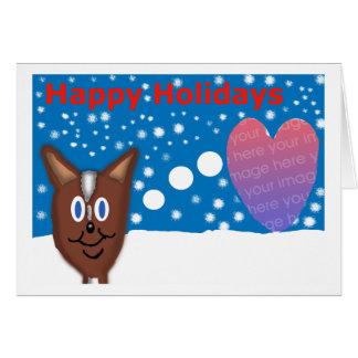 Deers love Holidays Card