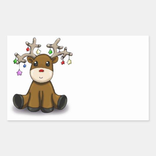 Deers Rectangular Sticker