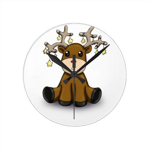 Deers Round Clock