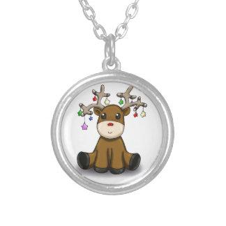 Deers Silver Plated Necklace