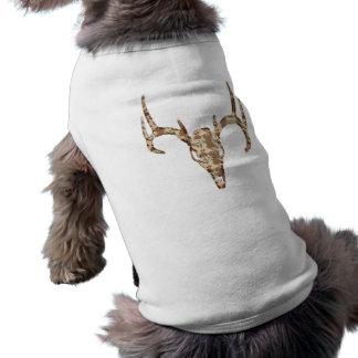 DeerSkull in Digital Brown for Hunters Pet T Shirt