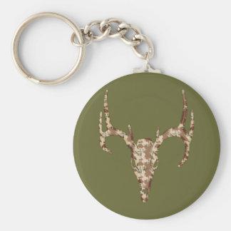 DeerSkull in Digital Brown for Hunters Keychain