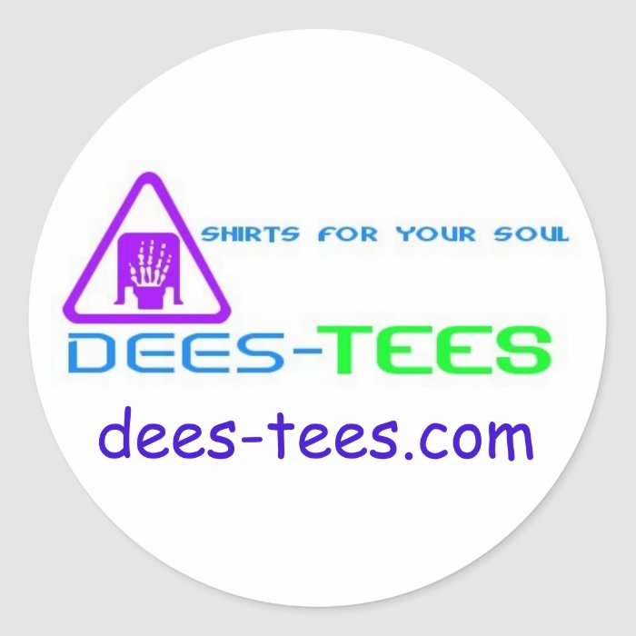 dees-tees classic round sticker