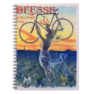 Déesse completa un ciclo el poster 1898 de la libretas espirales