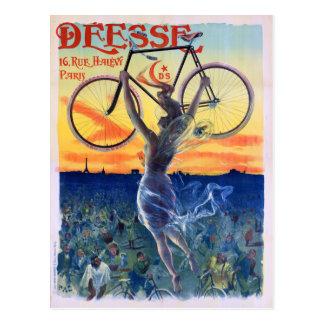 Déesse Cycles 1898 Vintage Advertising Poster Postcard