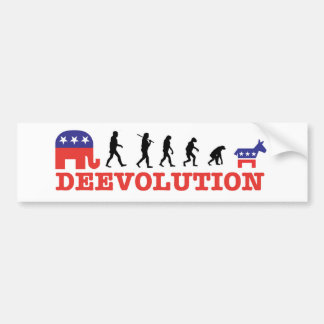 Deevolution Bumper Sticker