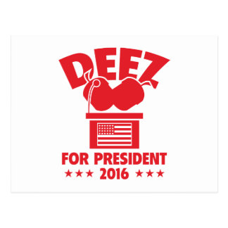 Deez Nuts For President Postcard