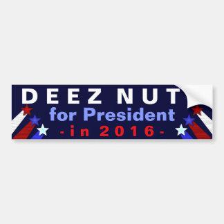 Deez Nuts President 2016 Election Funny Bumper Sticker