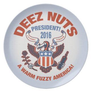 Deez Nuts Warm Fuzzy Dinner Plate