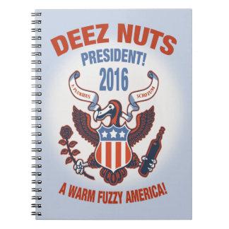 Deez Nuts Warm Fuzzy Notebook