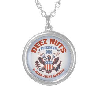 Deez Nuts Warm Fuzzy Silver Plated Necklace