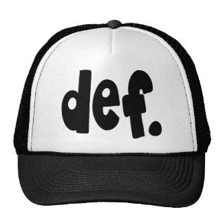 def. gorras de camionero