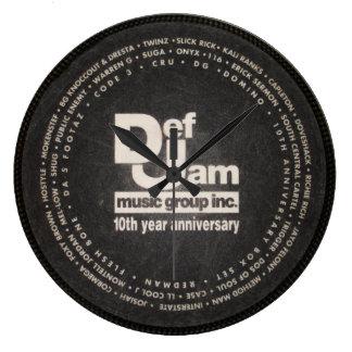 Def Jam Slipmat clock. Large Clock