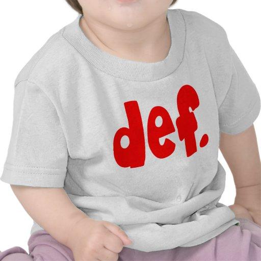 def. camisetas