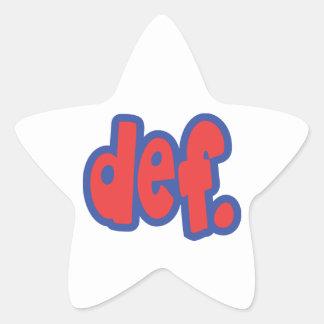 def. star sticker