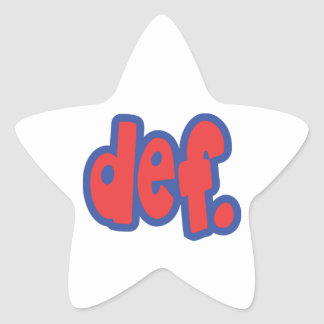 def. stickers