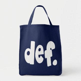 def. tote bag