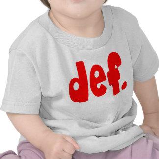 def. t-shirts