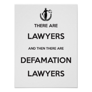 Defamation Lawyers Poster