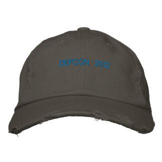 DEFCON 2012 EMBROIDERED BASEBALL HAT