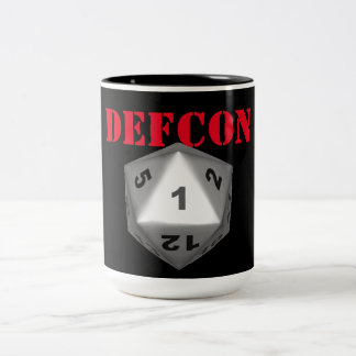 DEFCON Crit 1 Taza De Dos Tonos