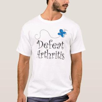 Defeat Arthritis Blue Ribbon T-Shirt