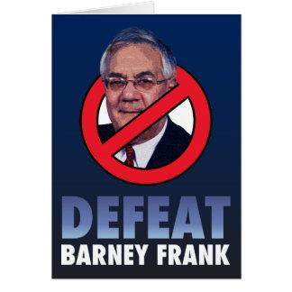 Defeat Barney Frank Card