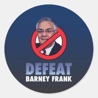 Defeat Barney Frank Classic Round Sticker