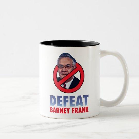 Defeat Barney Frank Two-Tone Coffee Mug