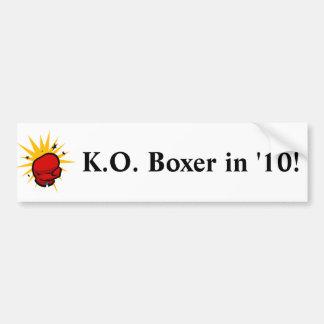 Defeat Boxer Bumper Sticker