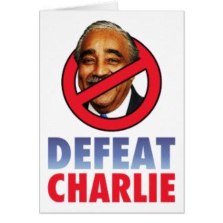 Defeat Charlie Rangel Card