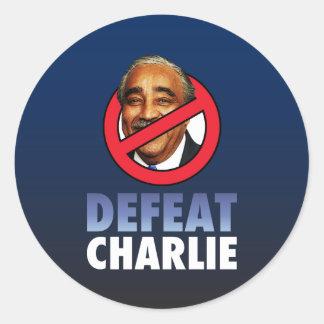 Defeat Charlie Rangel Stickers