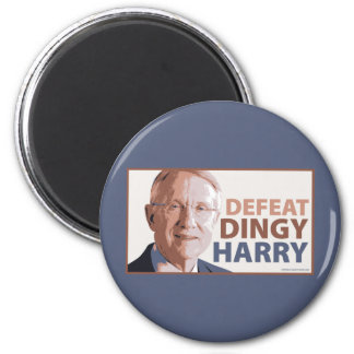 Defeat Dingy Harry Reid 2 Inch Round Magnet