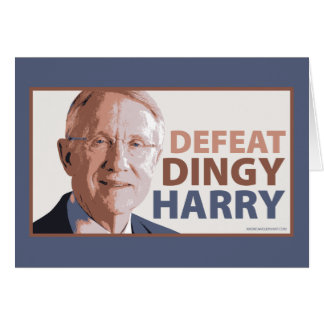 Defeat Dingy Harry Reid Card