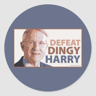 Defeat Dingy Harry Reid Classic Round Sticker