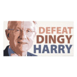 Defeat Dingy Harry Reid Photo Greeting Card