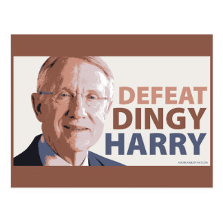 Defeat Dingy Harry Reid Postcard