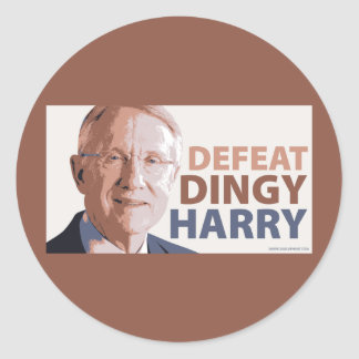 Defeat Dingy Harry Reid Round Stickers