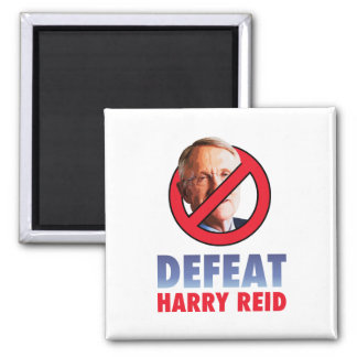 Defeat Harry Reid 2 Inch Square Magnet