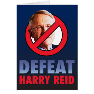 Defeat Harry Reid Card