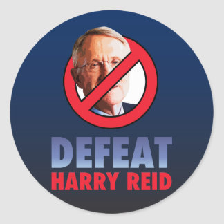 Defeat Harry Reid Classic Round Sticker