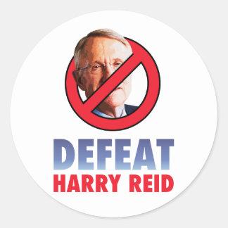 Defeat Harry Reid Classic Round Sticker