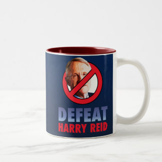 Defeat Harry Reid Two-Tone Coffee Mug