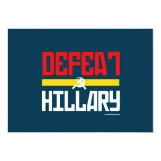 Defeat Hillary - Anti Hillary Customized Announcement Card