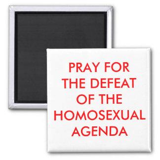 Defeat Homosexual Agenda 2 Inch Square Magnet