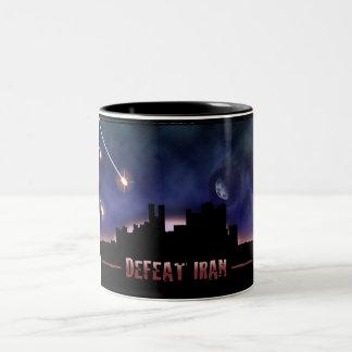 Defeat Iran Two-Tone Coffee Mug